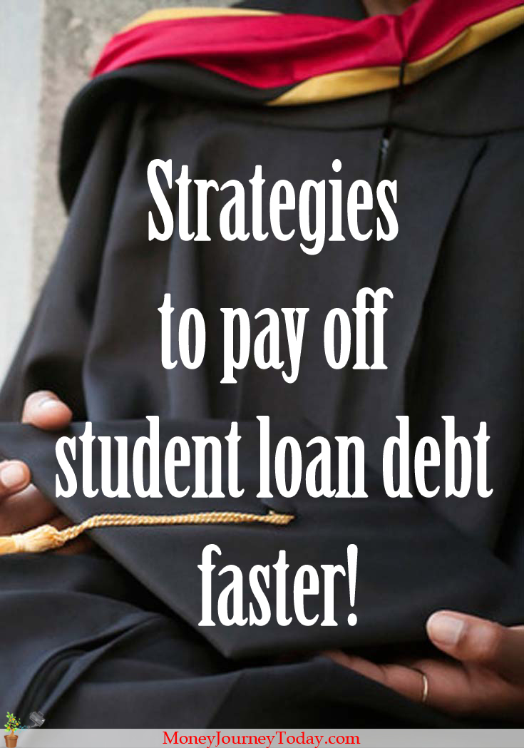 Strategies to pay off student loan debt faster. Because paying off student debt must be the least fun activity you face once you graduate!