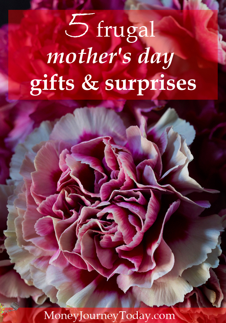 Are you looking for some frugal mother's day gifts & surprises? As long as a gift comes from your heart and not from your wallet, you can't go wrong!