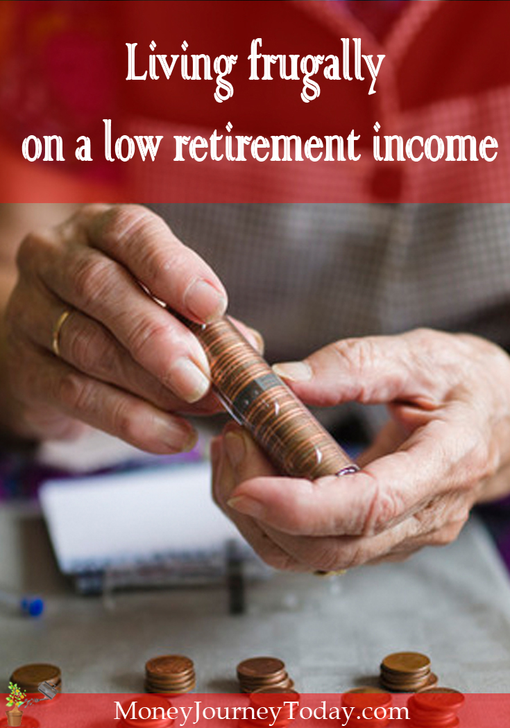 Is saving money for retirement overwhelming? Living frugally on retirement income is possible! See how you could enjoy retirement while living frugally!