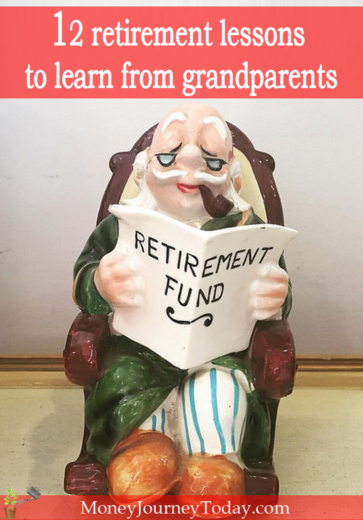 Maybe the golden years still look too blurry to glimpse at a clear picture, but over the years we should be able grab hold of a few retirement lessons.