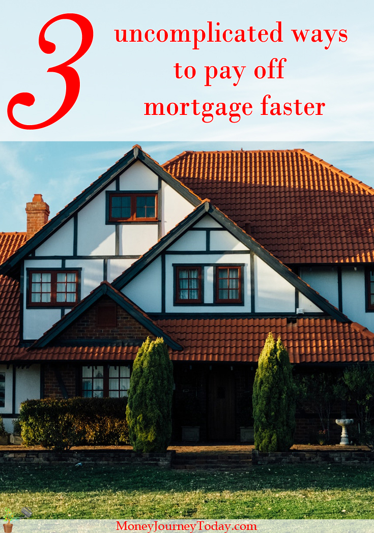 Looking to pay off mortgage faster? Here are 3 uncomplicated ways to help pay your mortgage early. Learn how to get rid of mortgage debt faster.